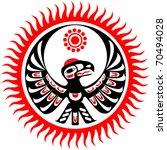 mythological image eagle and sun | Shutterstock .eps vector #70494028