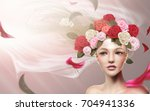 graceful bridal model with... | Shutterstock .eps vector #704941336