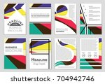 abstract vector layout... | Shutterstock .eps vector #704942746