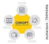 vector illustration of 5... | Shutterstock .eps vector #704943406