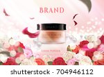 loose powder ads  floral... | Shutterstock .eps vector #704946112