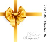 golden bow isolated on white.... | Shutterstock .eps vector #70494637