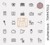 vintage retro line icon set | Shutterstock .eps vector #704947012