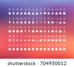 set of line icons in flat... | Shutterstock . vector #704950012