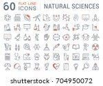 set of line icons  sign and... | Shutterstock . vector #704950072
