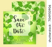 save the date card  wedding...   Shutterstock .eps vector #704950906