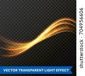 light line gold swirl effect of ... | Shutterstock .eps vector #704956606