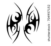 tribal tattoo art designs.... | Shutterstock .eps vector #704957152
