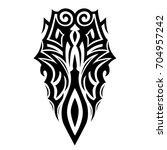 tattoo tribal vector design.... | Shutterstock .eps vector #704957242