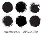 grunge circle set.vector round... | Shutterstock .eps vector #704961022