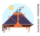 cross section of volcano.... | Shutterstock .eps vector #704966986