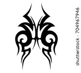 tribal tattoo art designs.... | Shutterstock .eps vector #704967946