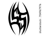 tattoo tribal vector design.... | Shutterstock .eps vector #704967976