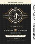 oktoberfest beer festival... | Shutterstock .eps vector #704972992