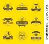 oktoberfest celebration beer... | Shutterstock .eps vector #704974546