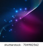 vector wave particles... | Shutterstock .eps vector #704982562