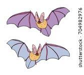 bat vector illustration. cute...   Shutterstock .eps vector #704982976