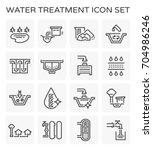 vector line icon of water... | Shutterstock .eps vector #704986246