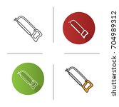 hand saw icon. flat design ... | Shutterstock .eps vector #704989312