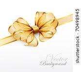 golden bow isolated on white.... | Shutterstock .eps vector #70498945