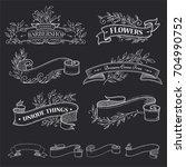 ribbon vector illustration with ... | Shutterstock .eps vector #704990752