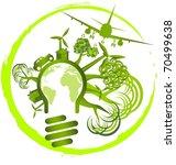 environment design   use green... | Shutterstock .eps vector #70499638
