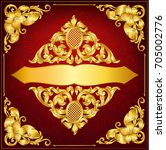 greeting card. baroque gold... | Shutterstock .eps vector #705002776