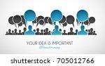 brainstorming concepual image...   Shutterstock . vector #705012766