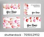 makeup artist business card.... | Shutterstock .eps vector #705012952
