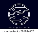 electronic circuit  icon ... | Shutterstock .eps vector #705016996