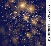 festive background with golden... | Shutterstock .eps vector #705017776