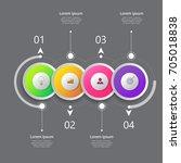 business infographics template...   Shutterstock .eps vector #705018838