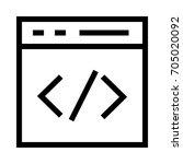 coding icon | Shutterstock .eps vector #705020092