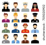 men's isolated avatars of... | Shutterstock .eps vector #705020902
