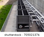 air chiller. sets of cooling... | Shutterstock . vector #705021376