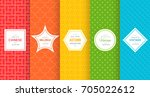 cute bright seamless pattern... | Shutterstock .eps vector #705022612