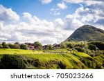 north berwick law and golf club ... | Shutterstock . vector #705023266