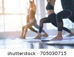 women asian exercising in... | Shutterstock . vector #705030715
