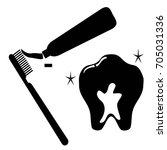 clean tooth icon set | Shutterstock .eps vector #705031336