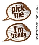 pick me i m trendy stickers in... | Shutterstock .eps vector #70503463