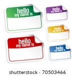 color name tag blank stickers... | Shutterstock .eps vector #70503466