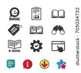 electronic book icons. e book...