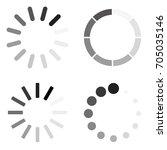 set loading icons | Shutterstock .eps vector #705035146
