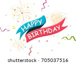 happy birthday banner | Shutterstock .eps vector #705037516