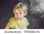 passive smoking concept. the... | Shutterstock . vector #705038176