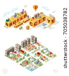 build your own city . set of... | Shutterstock .eps vector #705038782