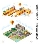 build your own city . set of... | Shutterstock .eps vector #705038806
