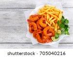 light and crispy crunchy... | Shutterstock . vector #705040216