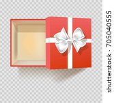 gift box with ribbon bow empty... | Shutterstock .eps vector #705040555