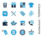 shopping icons | Shutterstock .eps vector #705044512